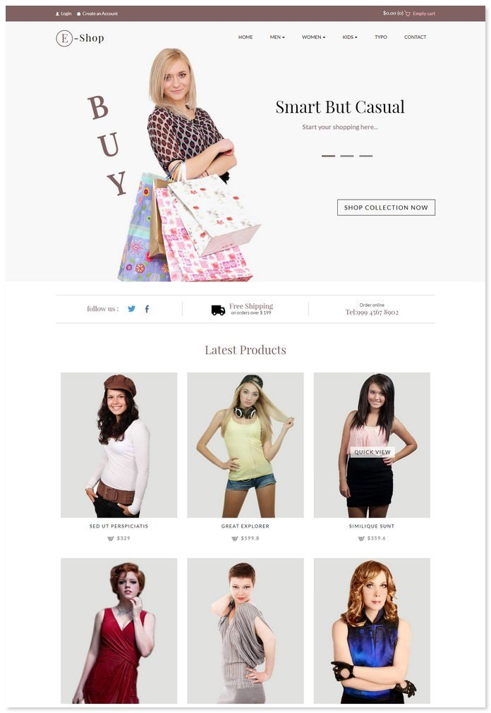 E Shop - Ecommerce Bootstrap Template