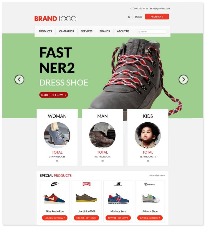 ECommerce Bootstrap Responsive Template