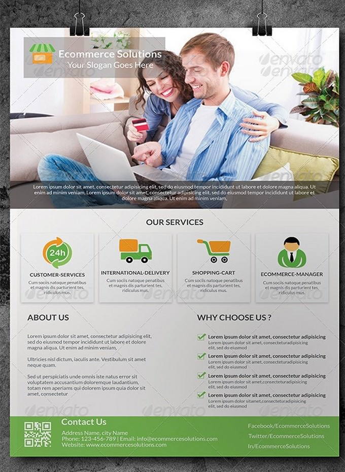 Ecommerce Solution Flyer Template
