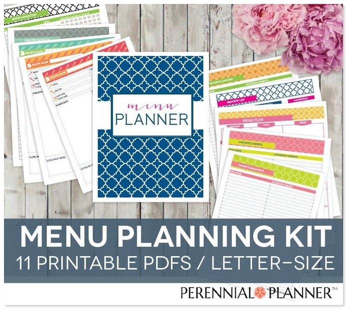 Editable Weekly Menu Plan Template