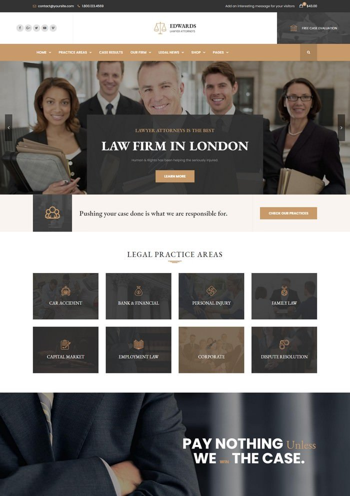 Edwards - Law Firm HTML Template