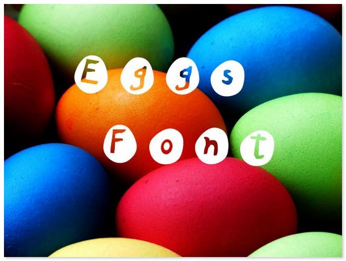 Eggs Easter Font