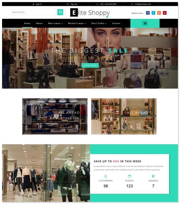 Elite Shoppy - Ecommerce Bootstrap Template