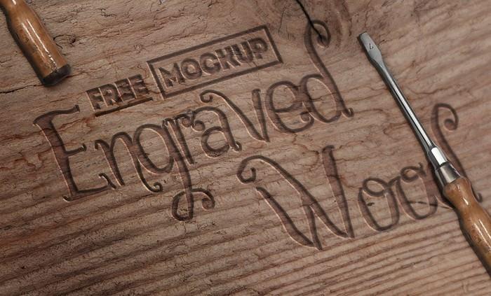 Engraved Wood Mockup # 2