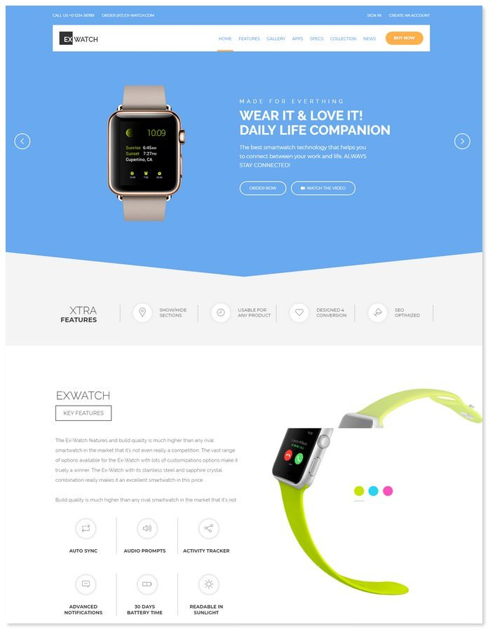 Ex Watch Bootstrap - eCommerce Shopify Theme