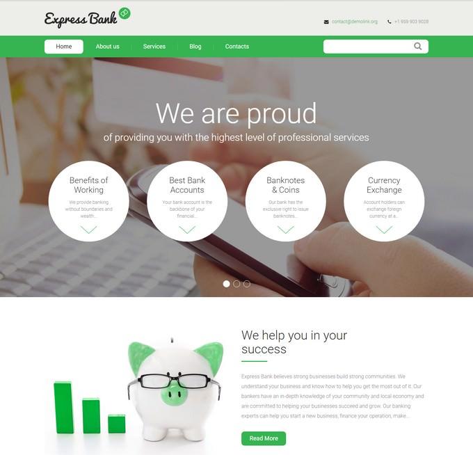 Express Bank Portfolio Template