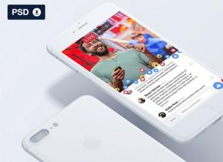 Facebook Social Media Live UI - Freebie PSD