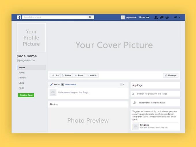 Facebook Social Media Page Mockup