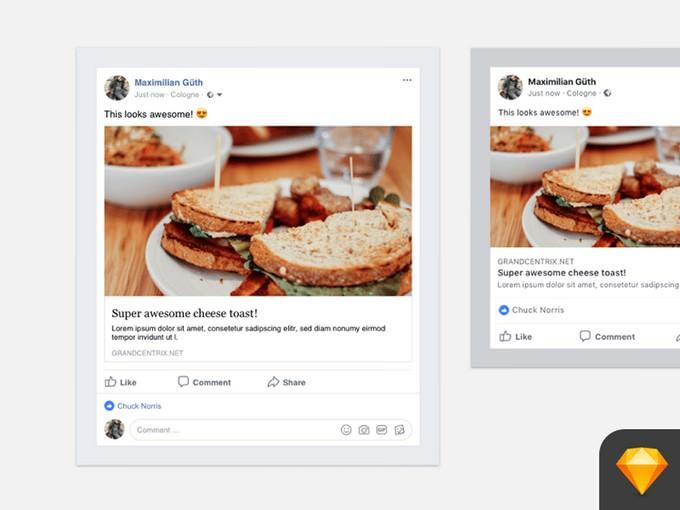 Facebook Social Media Post Mockups