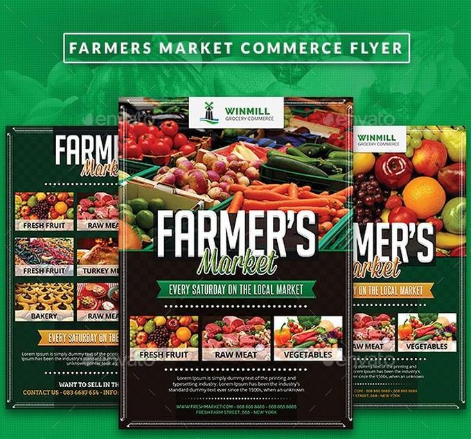 Farmer's Market Commerce Flyer