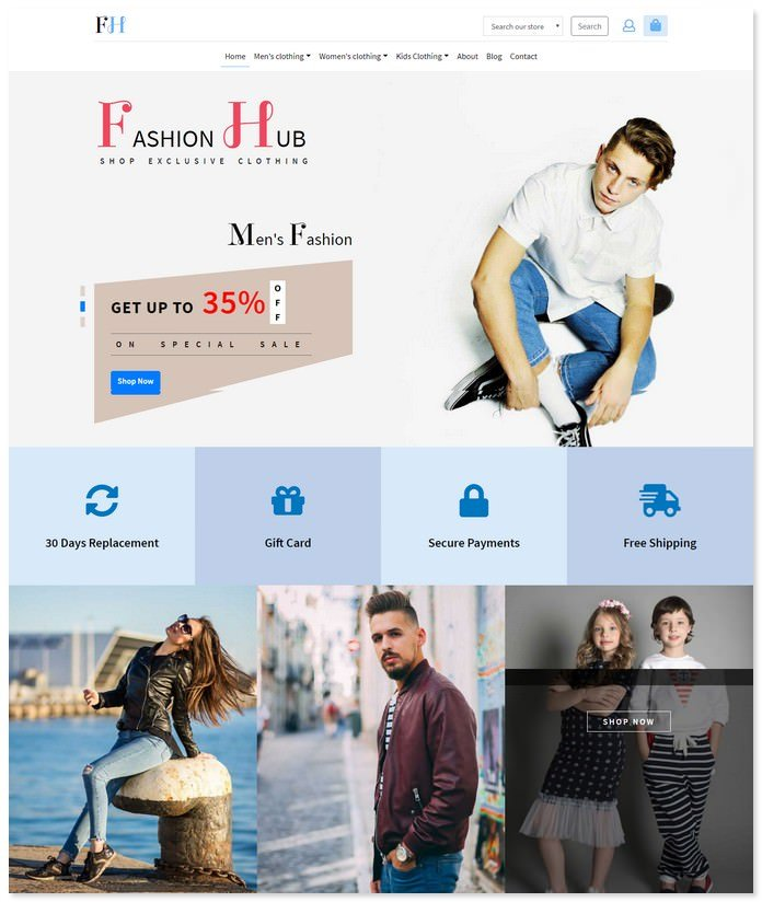 Fashion Hub - E commerce Bootstrap Template