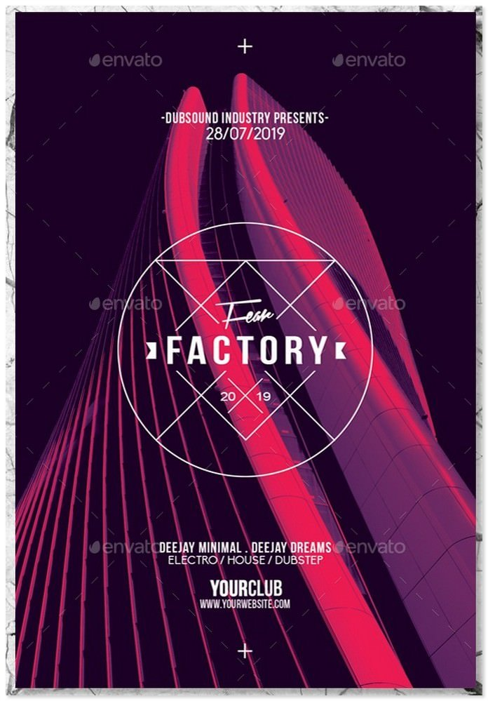 Fear Factory 6in1 Architectural Flyer PSD Template