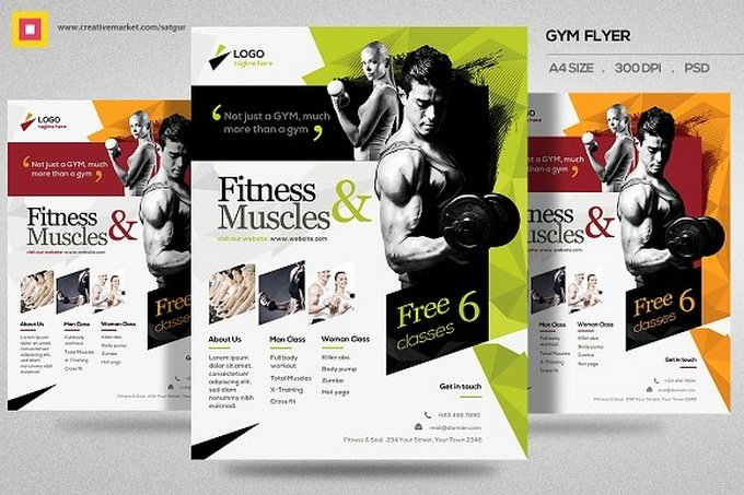 Fitness Flyer Gym Flyer V11
