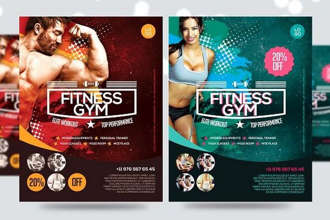 Fitness Flyer Gym Flyer V7