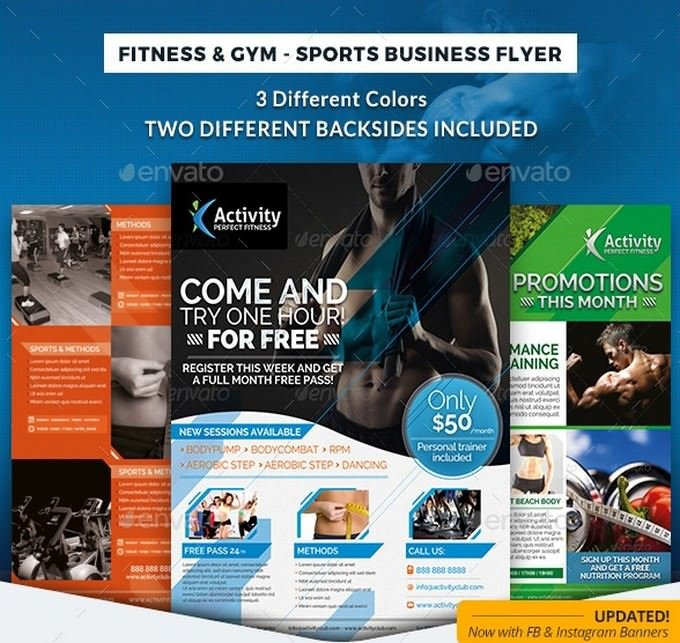 Fitness & Gym - Sports Business Flyer