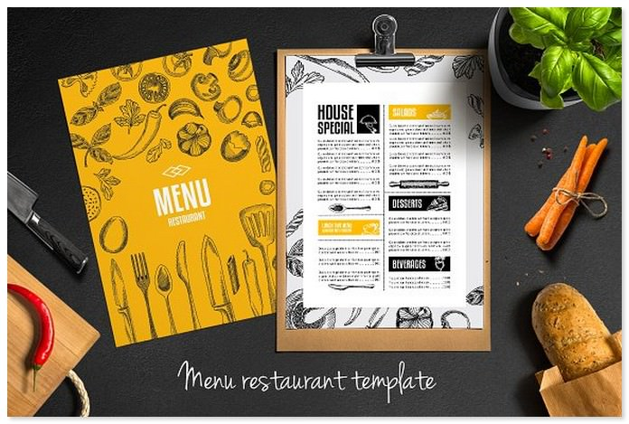 Food Menu Restaurant Holiday Template