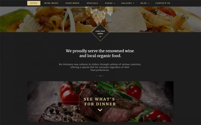 Website Template For Food Wine