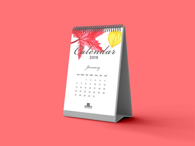 Free Calendar Mockup 2019