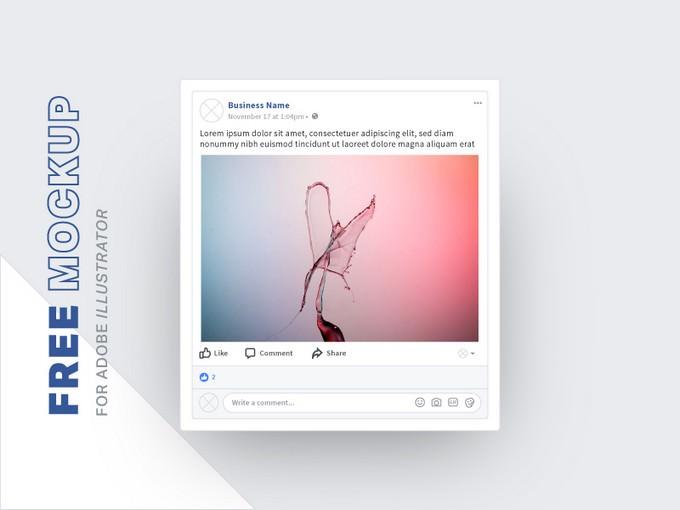 Free Facebook Social Media Mockups