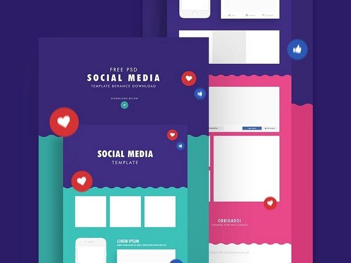 Social Media Mockup Free