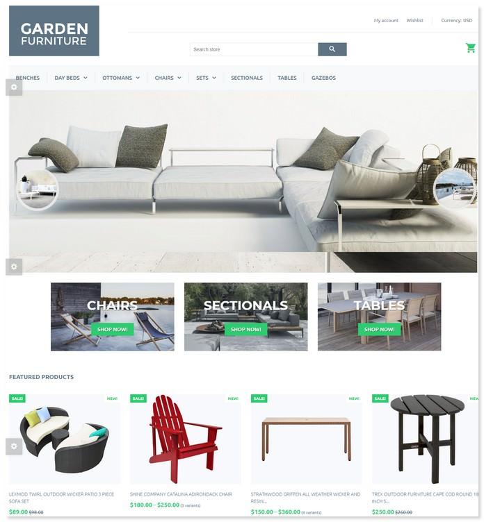Garden Furniture - Furniture & Interior Design Bootstrap Theme