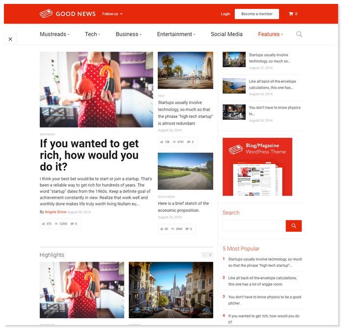 GoodNews - Blog & Magazine WordPress Theme