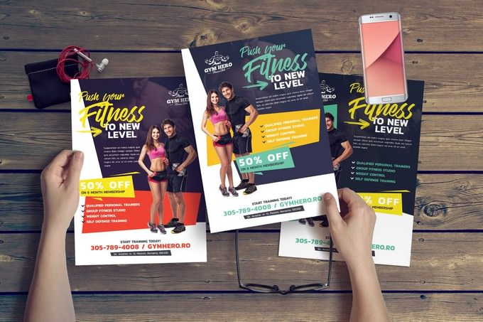 Gym Flyer Template For Fitness