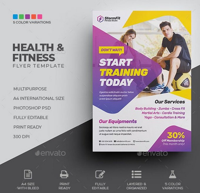 Health & Fitness Flyer
