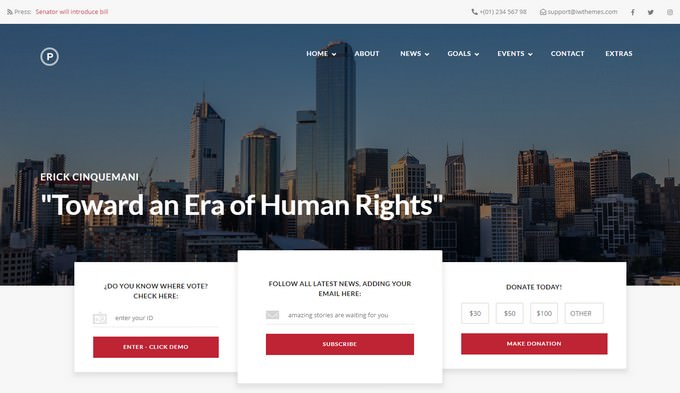 Html Template For Politic