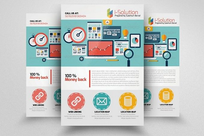 I-solutions SEO Flyer TemplateI-solutions SEO Flyer Template