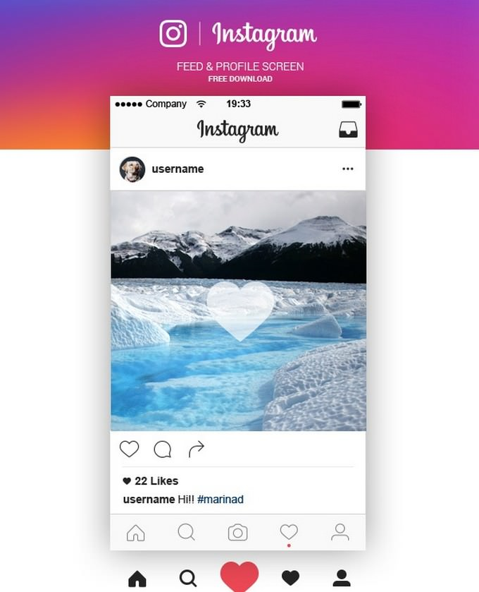 Instagram Feed & Profile Screen Free Ai