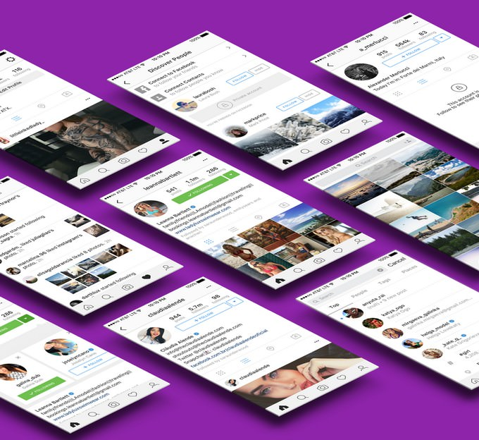 Instagram Social Media Mockup For Sketch