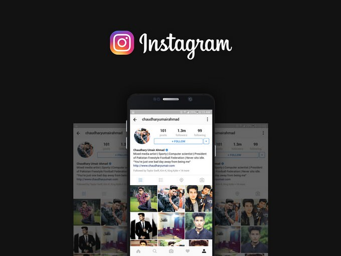 Instagram Social Media Profile Mockup