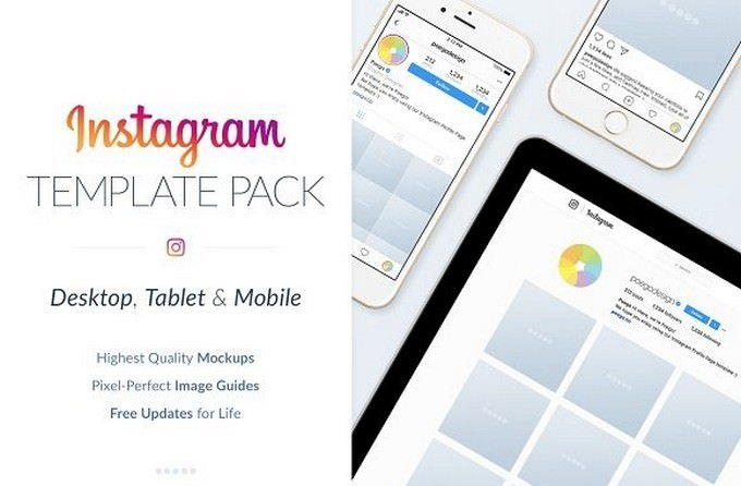 Instagram Social Media Template Pack