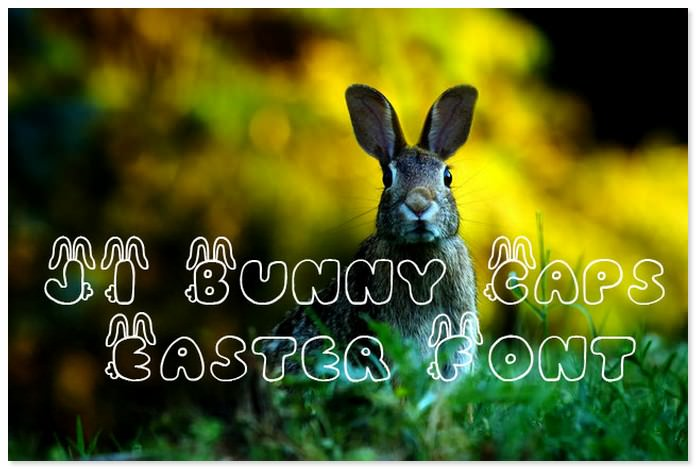 JI Bunny Caps Easter Font