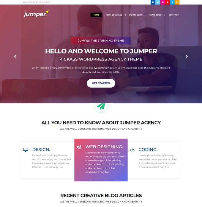 Jumper - HTML5 Agency Personal Portfolio Template