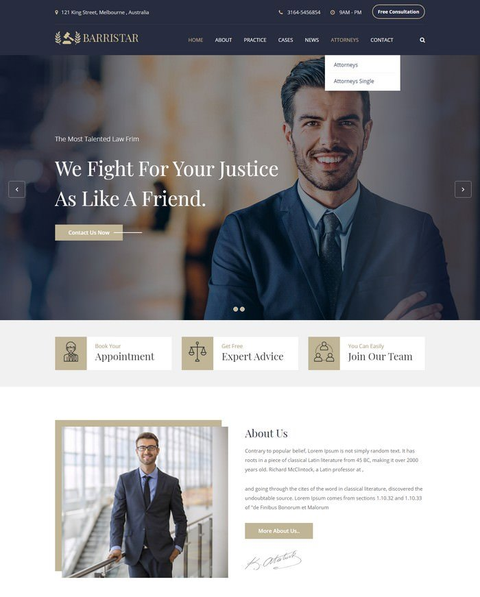 Jurista - Law Firm React Js Template