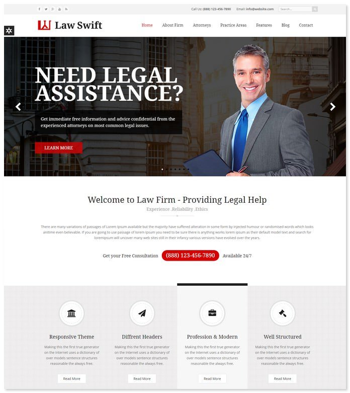 Law Swift Firm HTML5 Template