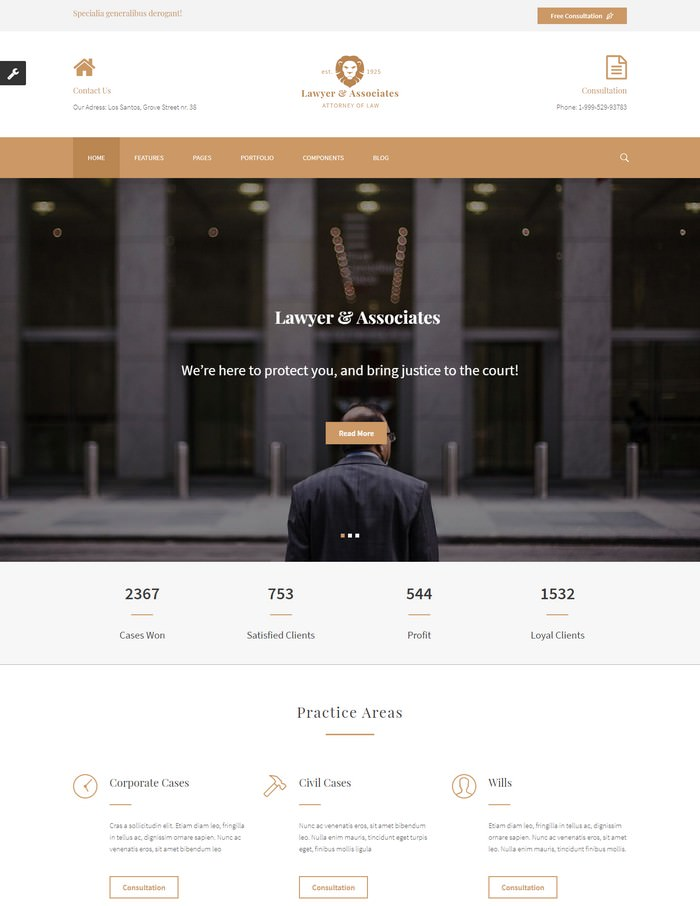 Lawyer & Associates - Attorney / Law Firm HTML5 Template