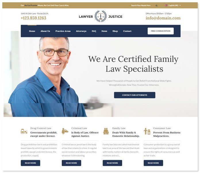 Lawyer Justice - Law Firm Template
