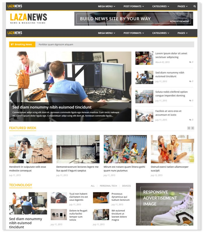 LazaNews News WordPress Theme