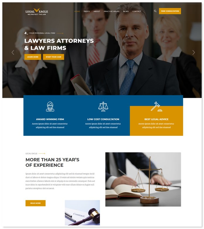 Legal Eagle – Attorney & Law Firm HTML5 Template