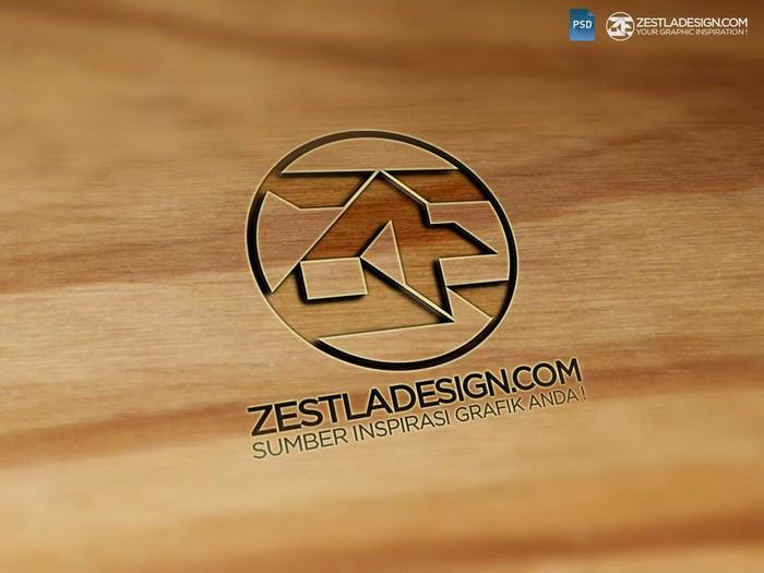 Logo Mockups Wood Textures