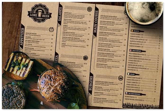 Lore Beer Pub Holiday Menu Template
