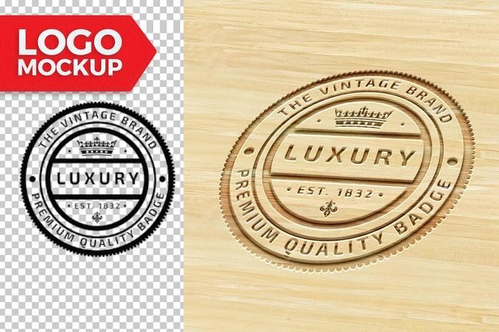 Luxury Wood Logo Mock-Up
