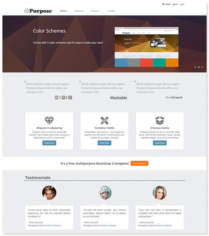 MPurpose Responsive E-Commerce Site Template