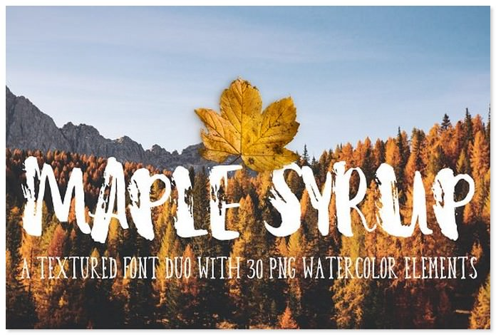 Maple Syrup Fall Font Pack