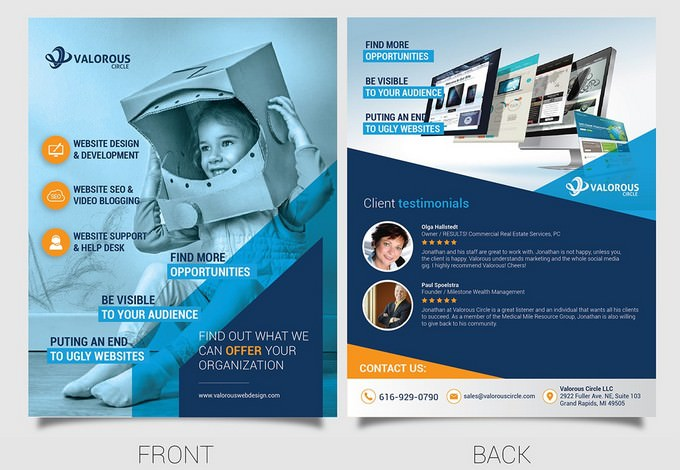 Marketing Flyer for Web Design and SEO Firm