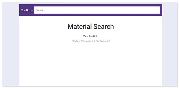 Material Design Search Bar