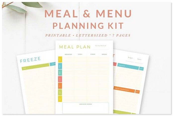 Meal Weekly Menu Planning Template